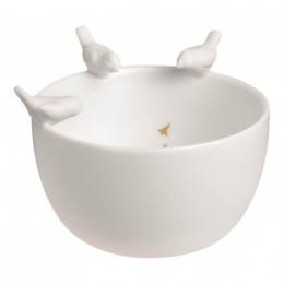 Bol en porcelaine oiseau blanc Räder