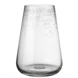 Vase en verre motif lettres Räder