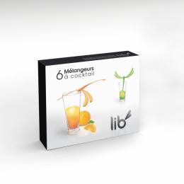 Coffret de 6 mélangeurs à cocktail libellules LIB