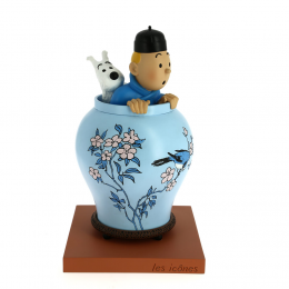 Tintin potiche Lotus bleu - Collection Les Icones Moulinsart