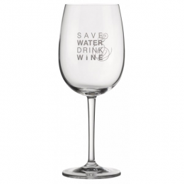 "Verre ""Save water drink Wine"" Räder"