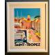 """Affiche tirage d'Art """"Le port de Saint Tropez"""" Monsieur Z."""