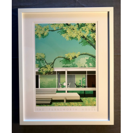 "Affiche tirage d'Art ""The Farnsworth House"" Monsieur Z."
