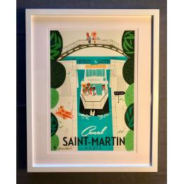 """Affiche tirage d'Art """"Canal Saint Martin Paris"""" Monsieur Z."""