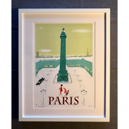 "Affiche tirage d'Art ""Place Vendome Paris"" Monsieur Z."