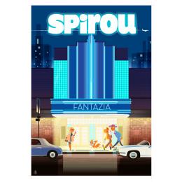 """Affiche tirage d'Art """"Spirou"""" Monsieur Z."""