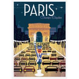 """Affiche tirage d'Art """"Paris Les Champs-Elysées"""" Monsieur Z."""