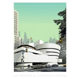 """Affiche tirage d'Art """"Musée Guggenheim"""" Monsieur Z."""