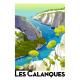 """Affiche tirage d'Art """"Les Calanques de Cassis"""" Monsieur Z."""
