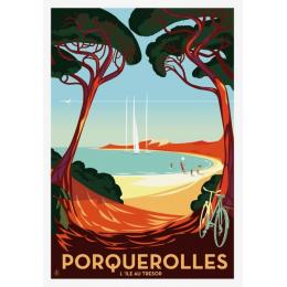 """Affiche tirage d'Art """"Porquerolles"""" Monsieur Z."""
