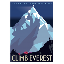 "Affiche tirage d'Art ""Climb Everest"" Monsieur Z."