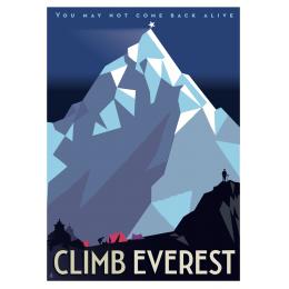 """Affiche tirage d'Art """"Climb Everest"""" Monsieur Z."""