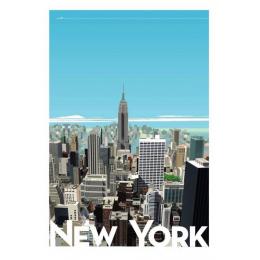"Affiche tirage d'Art ""New York"" Monsieur Z."