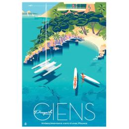 "Affiche tirage d'Art ""Giens"" Monsieur Z."