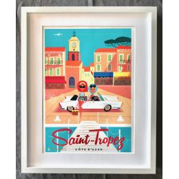 """Affiche tirage d'Art """"Saint Tropez"""" Monsieur Z."""