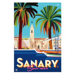 "Affiche tirage d'Art ""Sanary"" Monsieur Z."