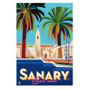 """Affiche tirage d'Art """"Sanary"""" Monsieur Z."""