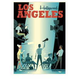 "Affiche tirage d'Art ""Los Angeles"" Monsieur Z."