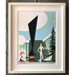 """Affiche tirage d'Art """"Megève"""" Monsieur Z."""
