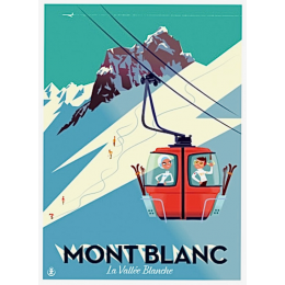 """Affiche tirage d'Art """"Mont Blanc"""" Monsieur Z."""