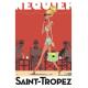 """Affiche tirage d'Art """"Saint Tropez Senequier"""" Monsieur Z."""