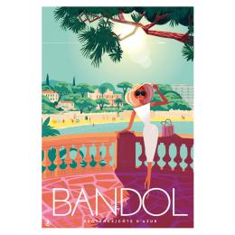 """Affiche tirage d'Art """"Bandol Provence Côte d'Azur"""" Monsieur Z."""