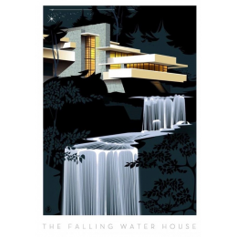 "Affiche tirage d'Art ""Falling Water House"" Monsieur Z."