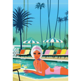 "Affiche tirage d'Art "" Palm Springs "" Monsieur Z."