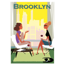 "Affiche tirage d'Art ""Brooklyn - New York"" Monsieur Z."