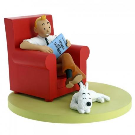 thésaurisation comme une denrée rare meilleurs prix nouvelles images de Tintin fauteuil rouge - Collection Les Icones Moulinsart - insolite