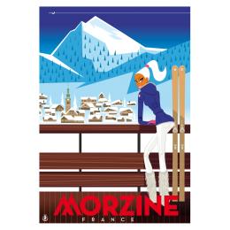 "Affiche tirage d'Art ""Morzine"" Monsieur Z."