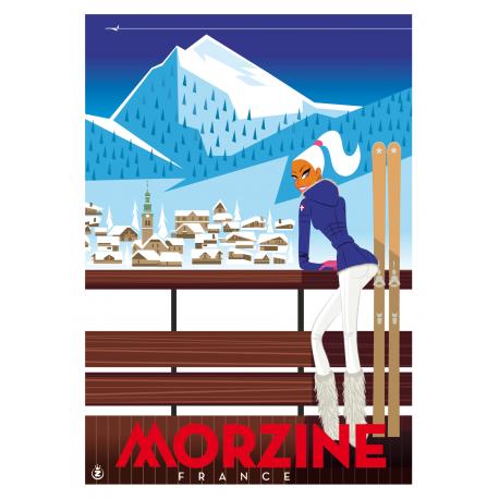 "Affiche tirage d'Art "" Morzine "" Monsieur Z."