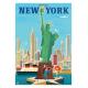 """Affiche tirage d'Art """" New York statue de la liberté """" Monsieur Z."""