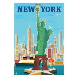 """Affiche tirage d'Art """"New York statue de la liberté"""" Monsieur Z."""