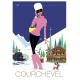 """Affiche tirage d'Art """"Courchevel"""" Monsieur Z."""