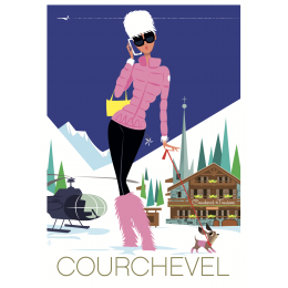 "Affiche tirage d'Art ""Courchevel "" Monsieur Z."