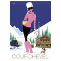"""Affiche tirage d'Art """"Courchevel """" Monsieur Z."""