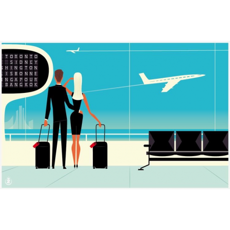 "Affiche tirage d'Art "" Airport "" Monsieur Z."
