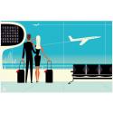 "Affiche tirage d'Art ""Airport "" Monsieur Z."