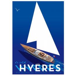 """Affiche tirage d'Art """"La Voile - Hyeres """" Monsieur Z."""