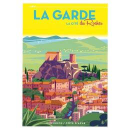 """Affiche tirage d'Art """"La Garde - Cité du Rocher """" Monsieur Z."""