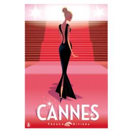 """Affiche tirage d'Art """"Cannes Festival """" Monsieur Z."""