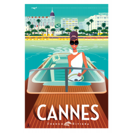 "Affiche tirage d'Art ""Cannes French Riviera"" Monsieur Z."