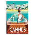 "Affiche tirage d'Art ""Cannes French Riviera"" Monsieur Z."
