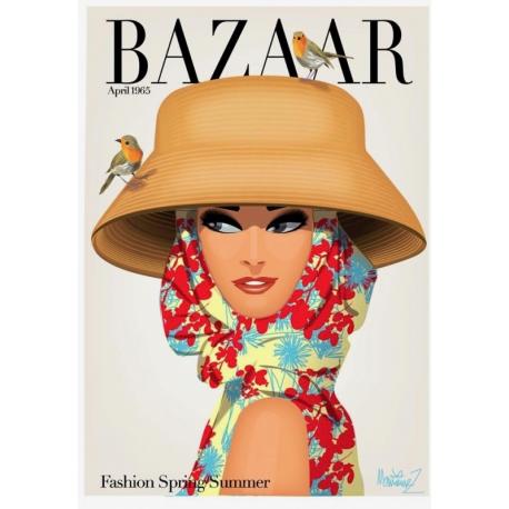 """Affiche tirage d'Art """" Bazaar - Fashion Spring Summer"""" Monsieur Z."""