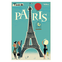 "Affiche tirage d'Art "" Paris Tour Eiffel "" Monsieur Z."