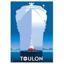 """Affiche tirage d'Art """" Toulon remorqueur """" Monsieur Z."""