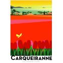 """Affiche tirage d'Art """" Carqueiranne - Les Champs de tulipes- """" Monsieur Z."""