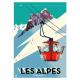 """Affiche tirage d'Art """" Les Alpes françaises """" Monsieur Z."""