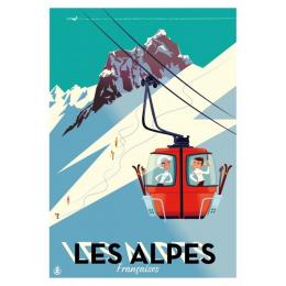 """Affiche tirage d'Art """"Les Alpes Françaises"""" Monsieur Z."""